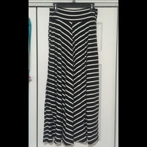 L AB Studio striped Maxi